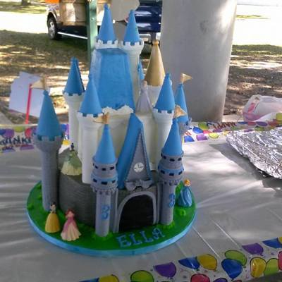 Buttercream All Turets Are Fondant Gumpaste Mix Using The Wilton Castle Cake Vanilla Cake And Strawberry Filling