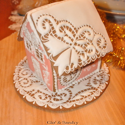 Embroidered Gingerbread House N2