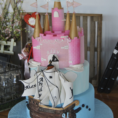 Pirate & Princess Cake