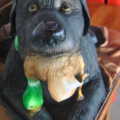 Grooms Cake His Dog Groom Is A Duck Hunter Dog Is Carved Cake Duck Is Gumpastefondant