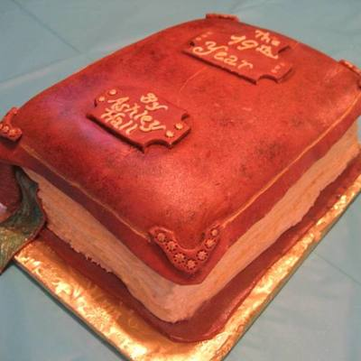 Leather Bound Book Cake