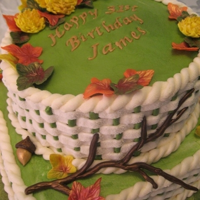 Autumn Theme Birthday Cake