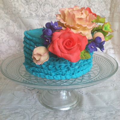 Mothers Day Cake Adorned With Various Sugar Flowers on Cake Central
