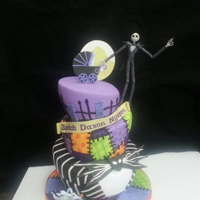 nightmare before christmas baby shower cake this is a baby shower cake