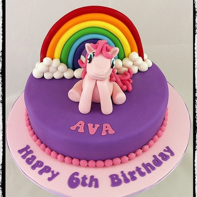 Pinkie Pie Cake Decorating Photos