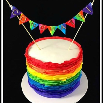 Rainbow Ruffles For A Baby Shower