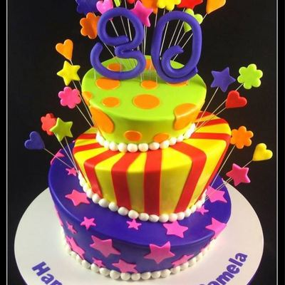 Very Colourful Topsy Turvy Cake!