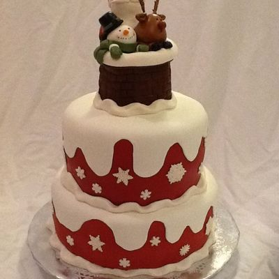 Up On The Rooftop Christmas Cake