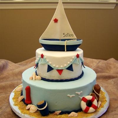 Sailboat Cake - The Cake Lovers