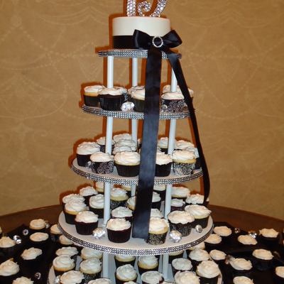Cupcake Tower For A Company Christmasanniversary Party