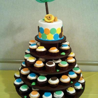 King Of The Jungle Cupcake Tower