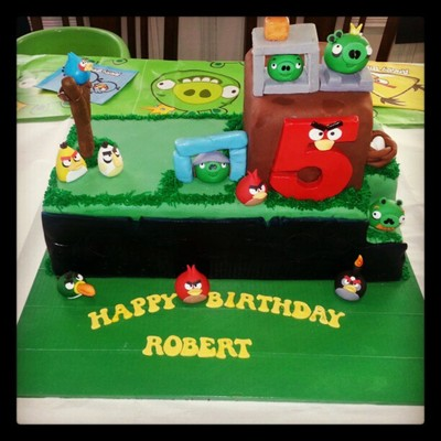 Angry Birds 5Th Birthday Cake