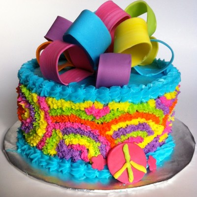 Tie Dye Birthday Cake By Livia