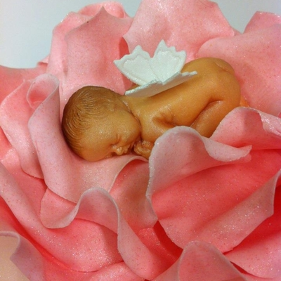 Baby In A Rose