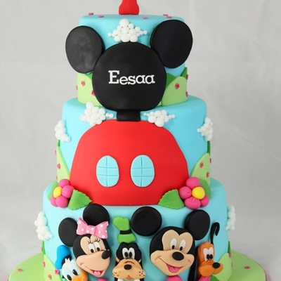 Mickey Mouse Club House And Friends 1St Birthday Cake
