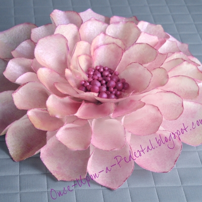 Pink Dahlia From Wafer Paper
