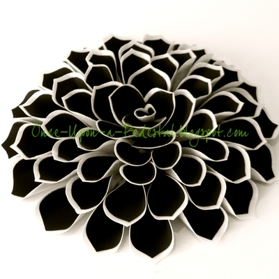 Black And White Fantasy Flower on Cake Central