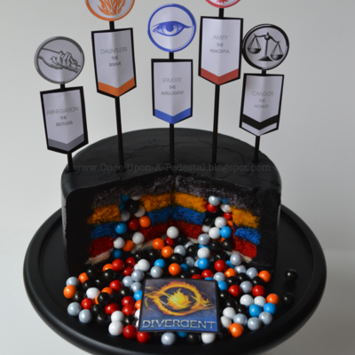 Surprise Inside Divergent Cake Interior With Tutorial And Template on Cake Central