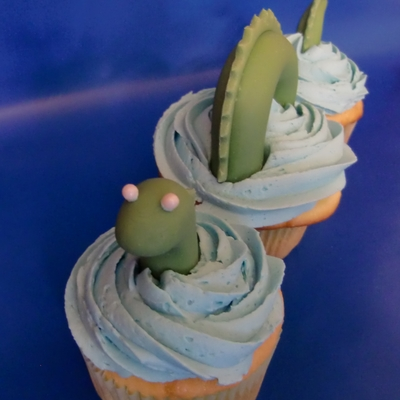 Sea Monster Cupcakes
