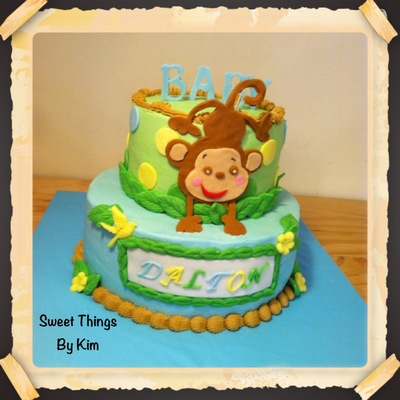 Inch On 9 Inch Vanilla Cake All Bc With Fondant Decorations