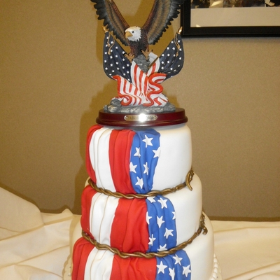 Full Colonel Retirement Cake