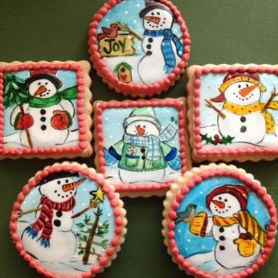 Hand Painted Snowman Sugar Cookies