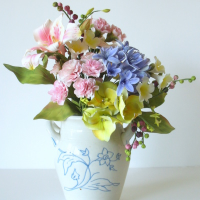 Bouquet Of Sugar Flowers Agapanthus Hydrangea Carnations Bower Of Beauty Alstromeria Berries