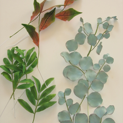 Gumpaste Foliage Croton Palm Leaves Eucalyptus