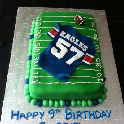 Rainbow Chip And French Vanilla Buttercream The Birthday Boy Was Part Of The East Side Eagles Football Team And They Had Just Won Their Cha...