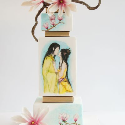 Japanese Painted Wedding Cake - Silver Award