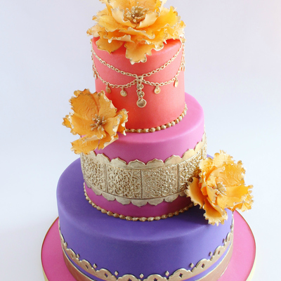 Moroccan Themed (Baby Shower) Cake