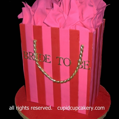 Victoria's Secret Shopping Bag Cake