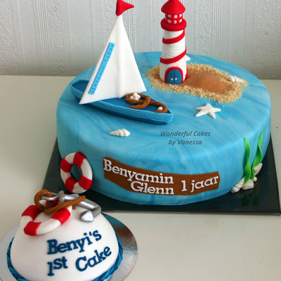 Sailboat Amp Lighthouse For A Birthday Boy With His Own Small Cake