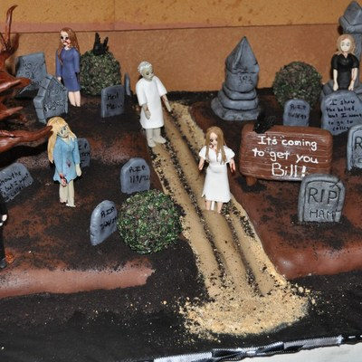 Night Of The Living Dead Themed Zombie Cake!
