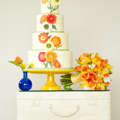 Yellow And Orange Ranunculus-Cake Central Cover