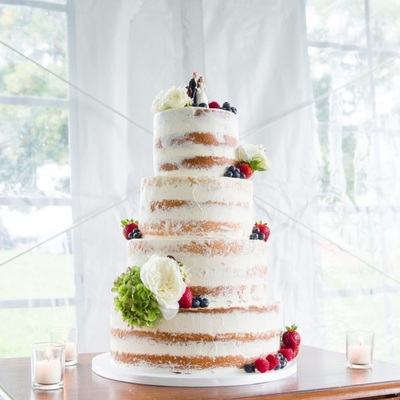 Half Naked Wedding Cake