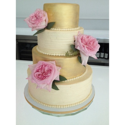 Gold With Textured Buttercream