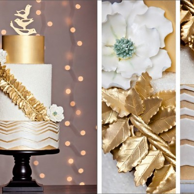 Cake Central Magazine - December 2012, Volume 3 Issue 11 Winter Gold Wedding Section