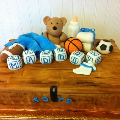 Baby Shower Toybox Cake