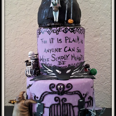 This Was A Request For A 2D Grooms Cake With The Theme Nightmare Before Christmas