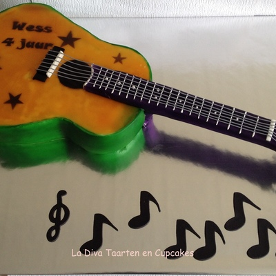 Guitar Cake For Wess, 4 Years