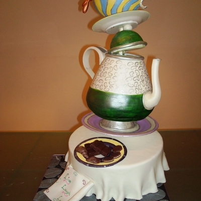 Wrong Alice Teapot on Cake Central