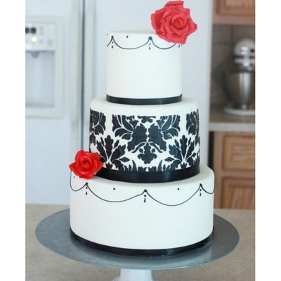 Black & White Damask Wedding