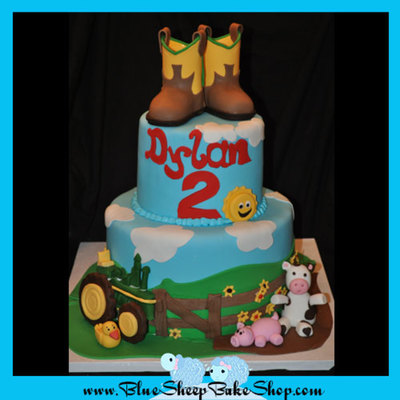Barn Yard Birthday Cake