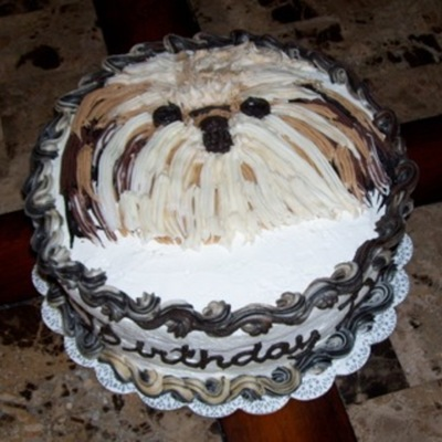 Shih Tzu Ice Cream Cake on Cake Central