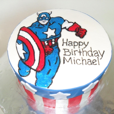 Captain America Birthday Cake Design Dmost for