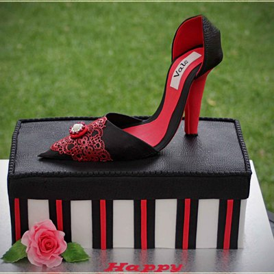 It Is My First Hand Made High Heel Shoe Chocolate Cake With Chocolate Ganache And Fresh Cream Filling I Also Enjoyed Working With Flexi Pa...
