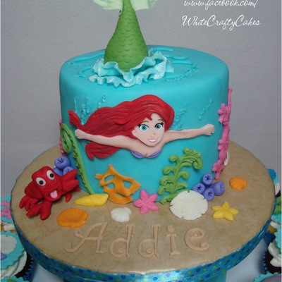 The Little Mermaid Cake And Cupcake Tower