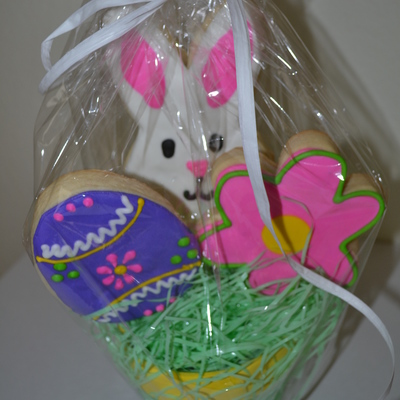 Easter Cookie Bouquet With Egg Bunny Amp Flower on Cake Central