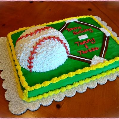 Peachy Softball Birthday Cake Cakecentral Com Personalised Birthday Cards Paralily Jamesorg